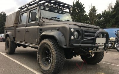 Defender 130 Crew Cab in for a Empire Tuning Remap