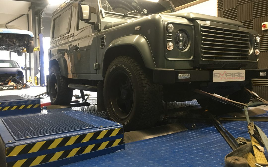 Defender 2.2 On the Dyno With Graph!